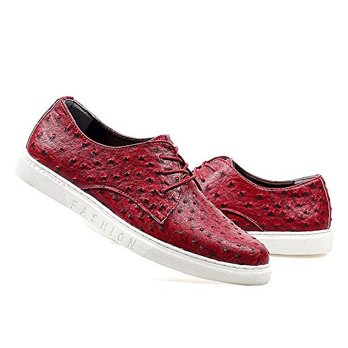 Hongjun Mocassini EU Rosso shoes 39 5 uomo Red r1wrfq