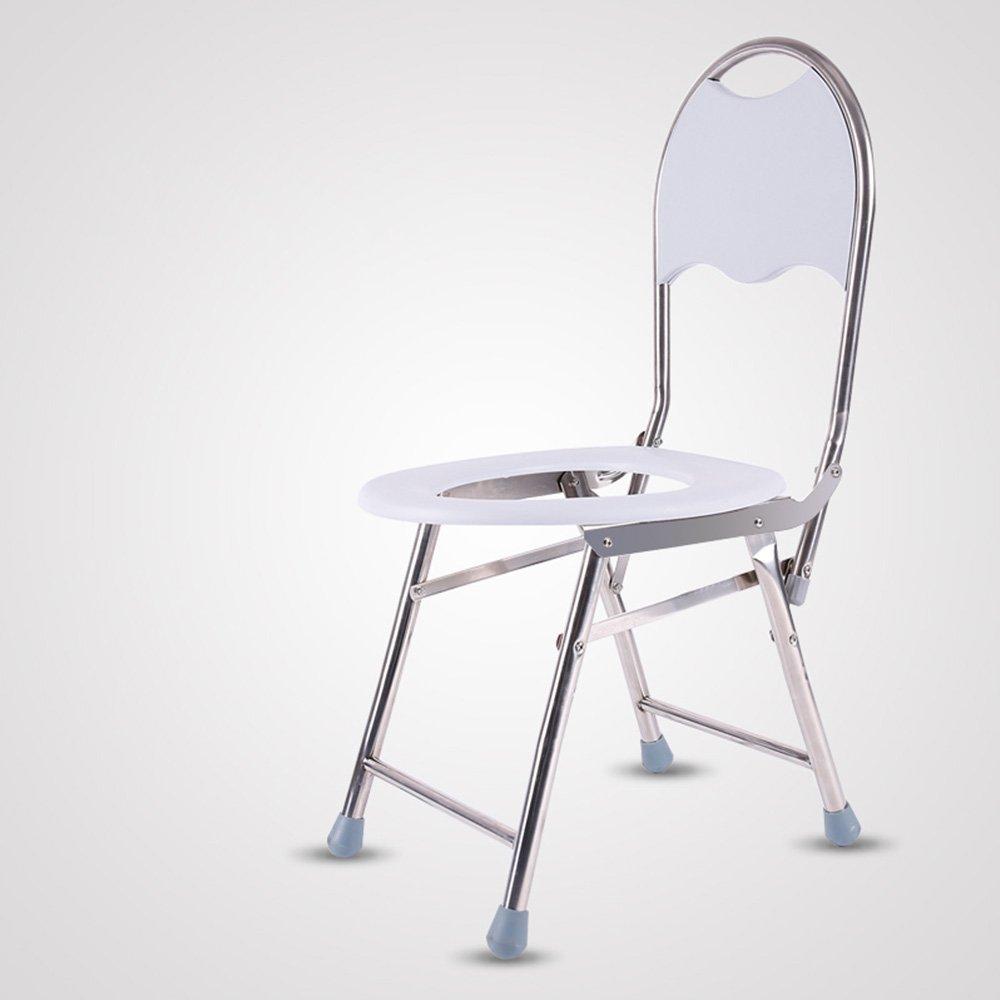 トイレシート モバイルトイレの椅子、トイレの椅子に座っている老人Collapsible妊娠中の女性Bath Chair肥厚しているステンレススチールのトイレDisabledモバイルトイレの椅子 (サイズ さいず : B) B07D6J4H3G   B