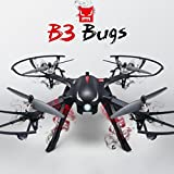 RC Quadcopter 2.4GHz 4CH RTF Two-way with Action Camera Bracket (Black)