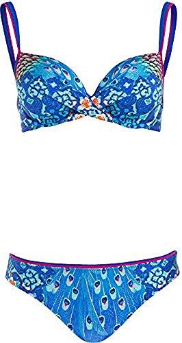 Gottex Underwire Bikini (Gottex Women's Swimwear Exotic Peacock Underwire Bra Bikini Two-Pece Swimsuit | 2-Piece Set (8))