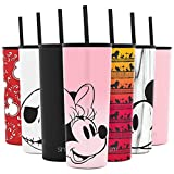 Kitchen & Housewares : Simple Modern Disney 24oz Classic Tumbler with Straw Lid & Flip Lid - Travel Mug Gift Vacuum Insulated Coffee Beer Pint Cup - 18/8 Stainless Steel Water Bottle Disney: Minnie on Blush