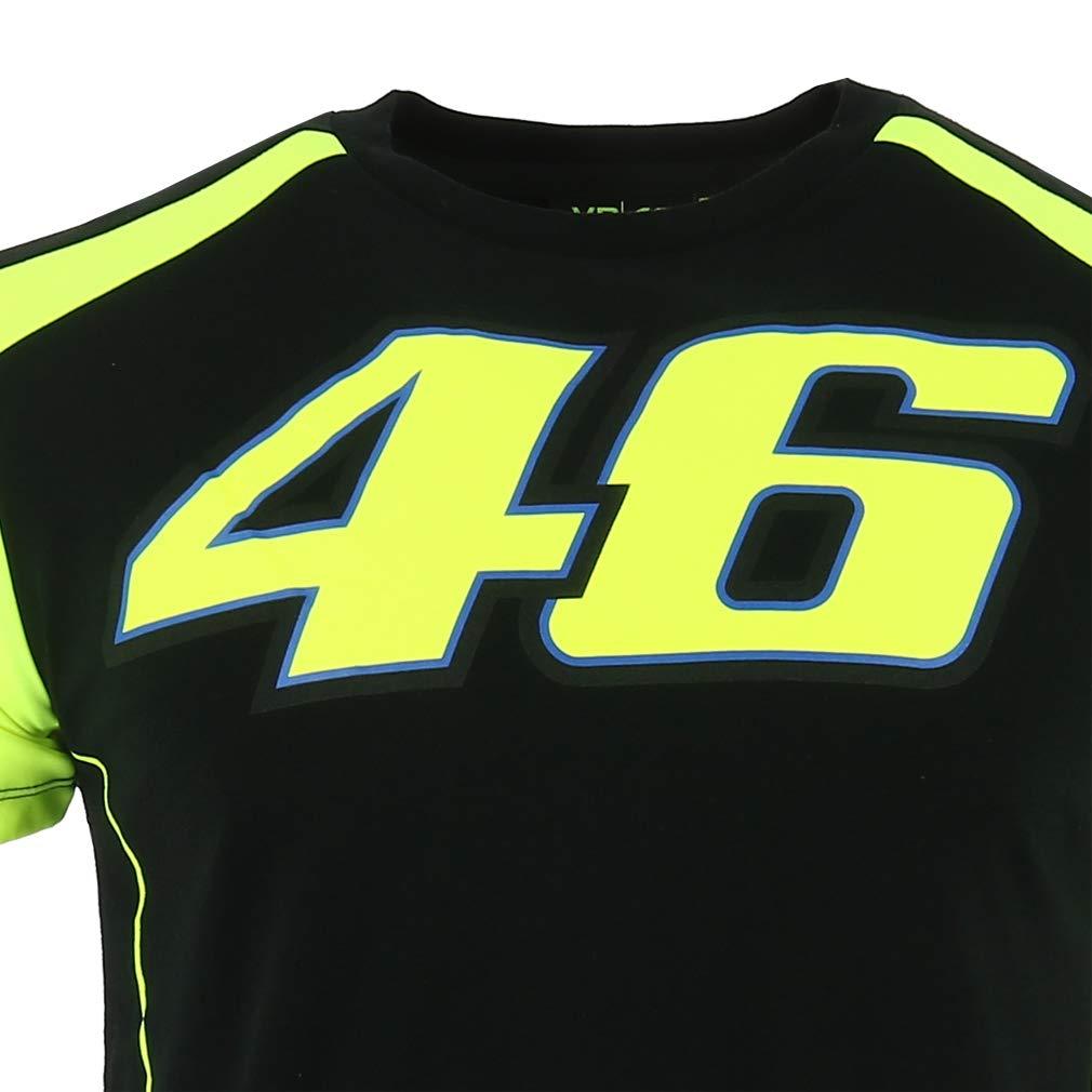 VALENTINO ROSSI VR46 Moto GP Race Logo Noir T-Shirt Officiel Nouveau