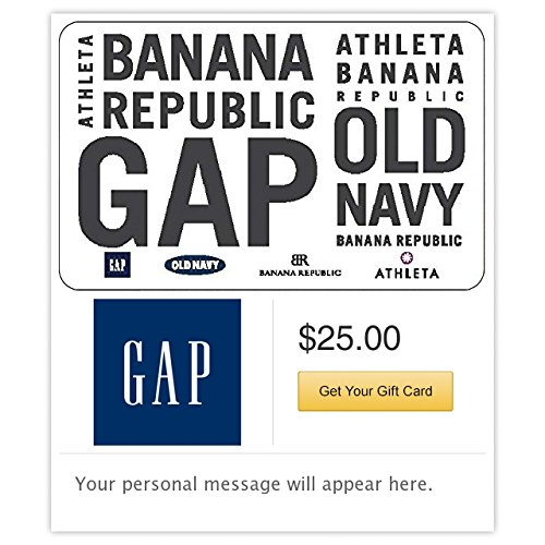 Gap Options Gift Cards - E-mail Delivery from GAP