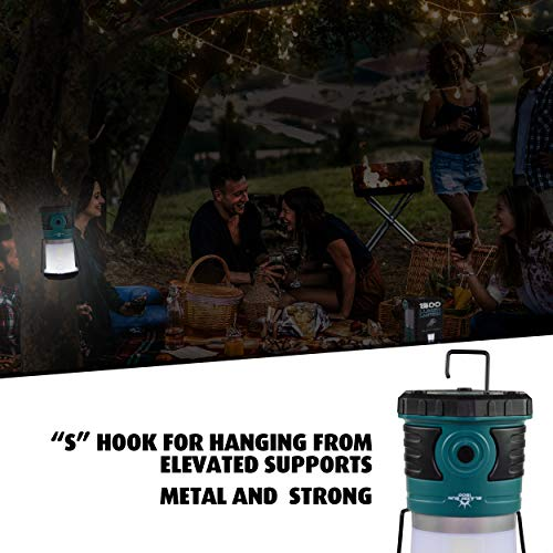 Blazin' Sun 1500 Lumen   Led Lanterns Battery Operated   Hurricane, Emergency, Storm, Power Outage Light   200 Hour Runtime (Teal) by Blazin' Bison (Image #6)