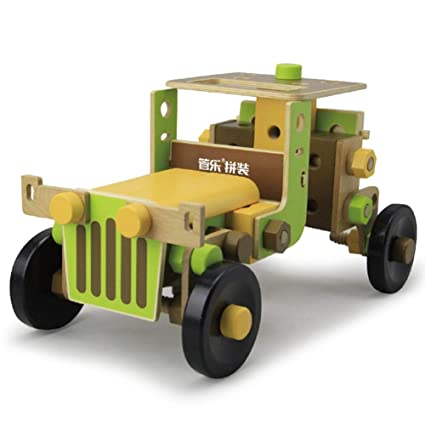 Amazon com: Xiaoyue 3D Wooden Building Construct Screw Toy, Wooden