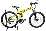 Phoenix Hunter 2.0 24 Speed Unisex Folding Bicycle, M 26 Inches (Yellow)
