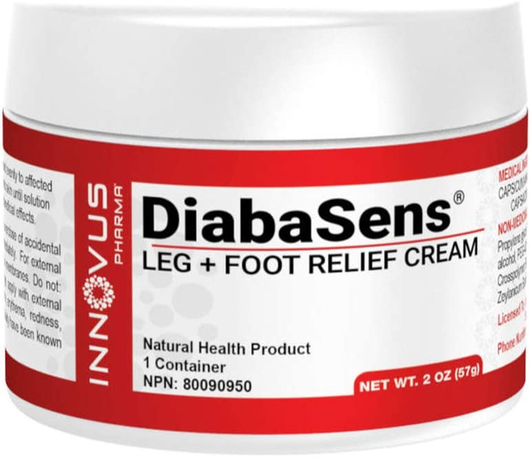 DiabaSens® - Leg and Foot Relief Cream, Soothes and Moisturizes Dry Skin, Warms Legs and Feet and Contains L-Arginine, L-Citrulline and Cinnamon bark Oil (2 oz Cream)