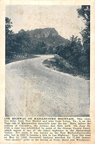 Luray Virginia Lee Highway Massanutten Mountain Antique Postcard K61821
