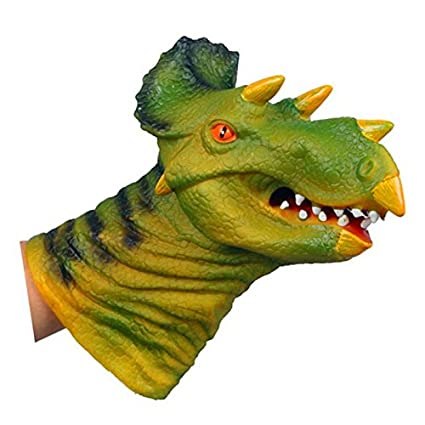 amazon com bangbang dino head triceratops dinosaurs finger puppet
