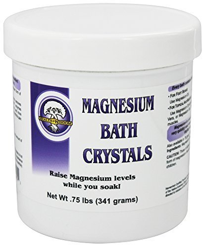 MAGNESIUM BATH CRYSTALS 3/4# UP TO 8 BATHS by Health and Wisdom ()