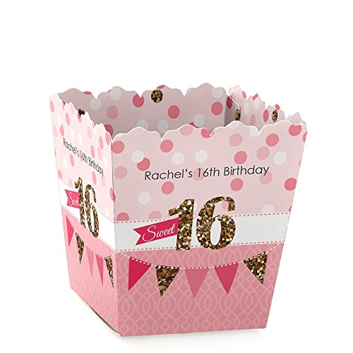 Custom Sweet 16 - Personalized Birthday Party Candy Boxes Party Favors - Set of (Sweet 16 Candy Buffet)