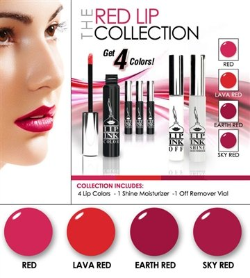 LIP INK Smearproof Waterproof Natural Red Lip Stain Collection by LIP INK