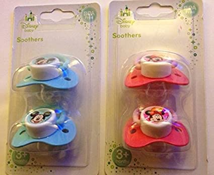 2 Disney Mickey Minnie Mouse Winnie the Pooh Baby Soothers Dummies