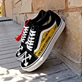Vans Old Skool x OFF White Custom Handmade Uni-Sex Shoes By Patch Collection