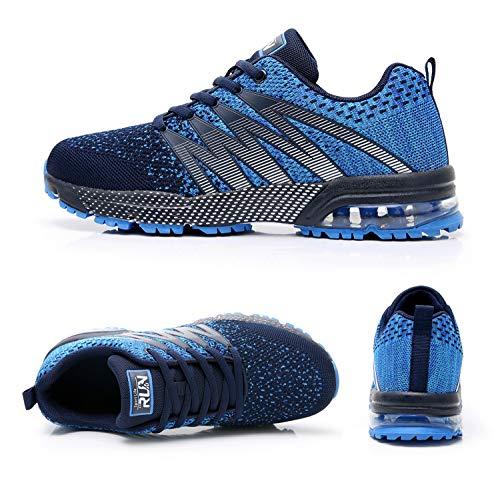 Azooken Herren Damen Sportschuhe Laufschuhe Turnschuhe Sneakers Leichte Fitness Mesh Air Sneaker Straßenlaufschuhe… 2