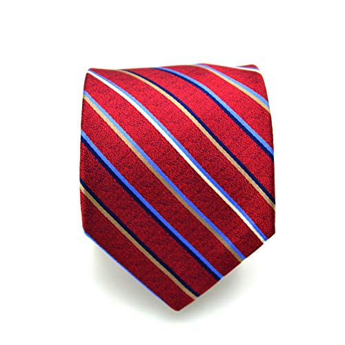 Giannini Diagonal Stripe Necktie in Red (One Size, Red) ()