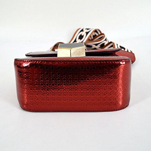 for Women Bags Tote Fashionista Faux Red Textured Shoulderbag Street Crossbody Leather Handbag Heidi WcTvH1anPP