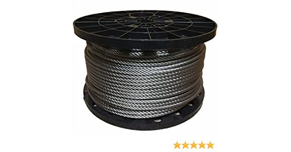 316 Stainless Steel Marine Grade Cable Extra Flexible CRS 1//8 100 ft Coil 7x19