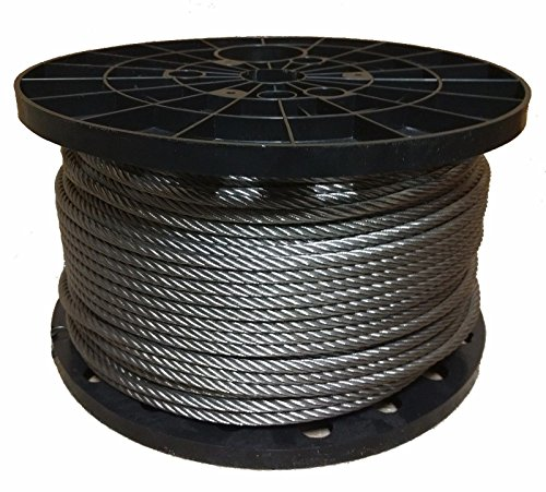"""1/4"""" Stainless Steel Aircraft Cable Wire Rope 7x19 Type 304 (100 Feet)"""