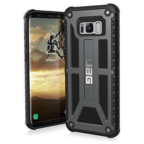 Rugged Equipment Leather Case - UAG Samsung Galaxy S8+ [6.2-inch screen] Monarch Feather-Light Rugged [GRAPHITE] Military Drop Tested Phone Case