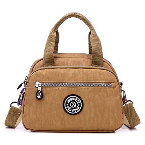 TianHengYi Girls Casual Small Nylon Cross-body Shoulder Bag Multi Pockets Lightweight Handbags & Purses 3120 Khaki - Designer Small Diaper Bags