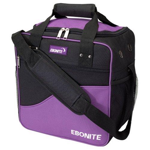 Ebonite Basic Single Bowling Bag- Purple/Black ()