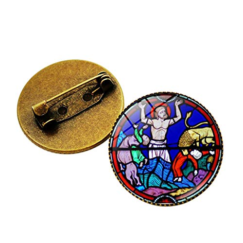 SMALLE ◕‿◕ Brooch Pins for Women, n Vault Notre Dame Paris Rose Window Art Gothic Brooch Pins Jewelry Gift