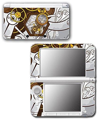 Art Abstract Steampunk Gear Machine Video Game Vinyl Decal Skin Sticker Cover for Original Nintendo 3DS XL System 3
