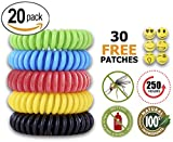 Mosquito Repellent Bracelet Insect & Bug Repellent Bands,100% Natural,Keeps Pests & Bugs Away