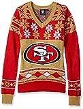 NFL Women's V-Neck Sweater, San Francisco 49ers, Medium