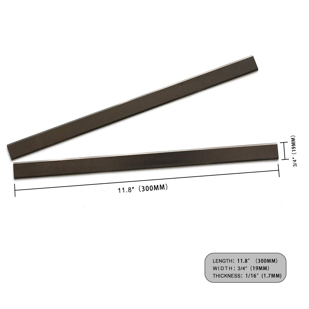 Delta 22-540 planer blades Knives Carbide HSS For Delta 22-540,22-547 11.8 inch Replacement Two edges 300mm x 19mm x 1.7mm, 2pcs