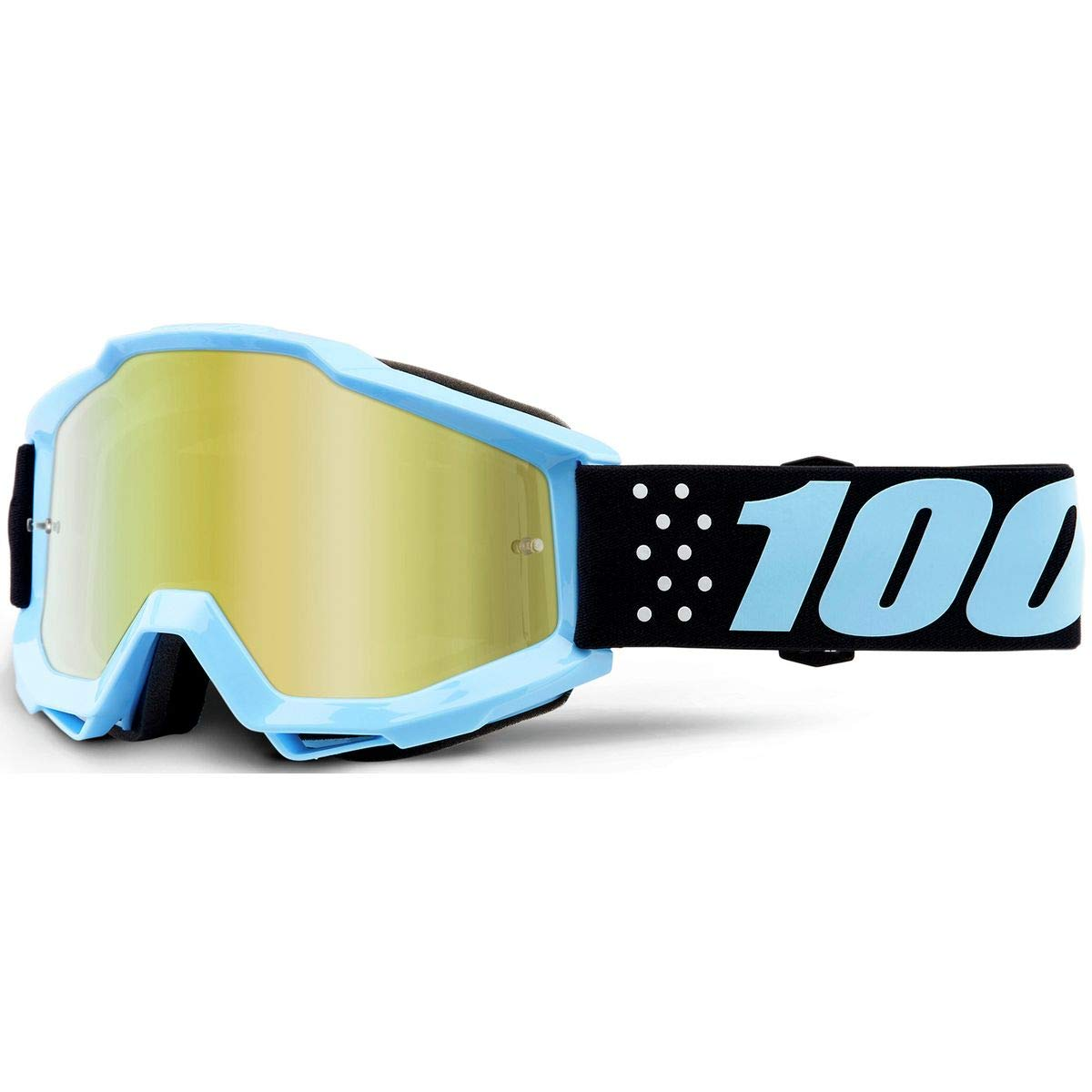 100/% ACCURI Youth Goggles Fluo Yellow Clear Lens One Size