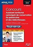 Concours Assistant territorial (principal) de conservation du patrimoine et des bibliothèques - Catégorie B - Concours 2016