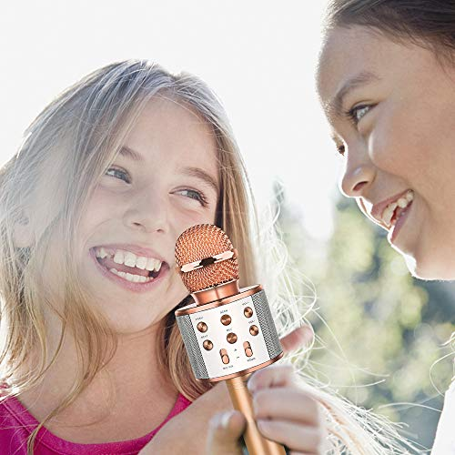 DEDY Awesome Toys for 5-12 Year Old Girls, Bluetooth Wireless Karaoke Microphone Birthday Fun Gifts for 5-12 Year Old Girls Boys Microphone Kids xiangbin DDMKF05 by DEDY (Image #5)