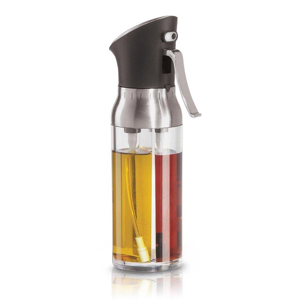 Oil Sprayer for Cooking, 2 In 1 Oliver Oil Sprayer Mister Vinegar Bottle Oil Dispenser for Salad BBQ Baking Roasting Grilling Frying, 200ml Capacity