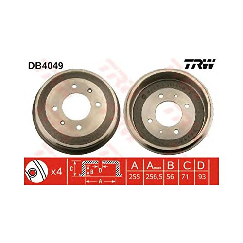 TRW DB4049 Brake Drums: