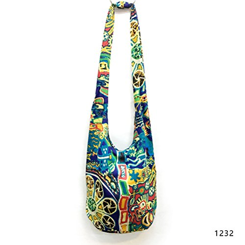 Purse Hippie Crossbody Fashion Messenger Women's 1232 Cotton Hobo Girls Thai Sling Print Paisley Bag Story qxPwHfp
