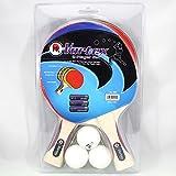 Martin Kilpatrick Vortex 2 Player Table Tennis Racket Set - 2 Paddles - 3 Ping Pong Balls