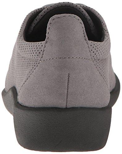 Perforée up Chaussures Sillian Gris Tino Microfibre Cloudsteppers Clarks Foncé Lace HfSqBz