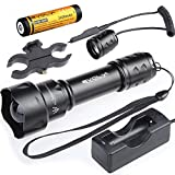 Evolva Future Technology T20 IR 38mm Lens Infrared Light Night Vision Flashlight Torch (Torch+Battery+Charger+Pressure Switch+Scope Mount)