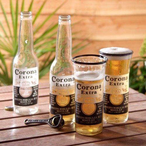 Glass ReFORM - Juego de 2 vasos (creados a partir de botellas de cerveza Corona Extra, capacidad: 330 ml): Amazon.es: Hogar