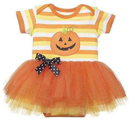 Candy Corn Tutu Costume (Tutu Cute Diaper Shirt Tutu - Candy Corn (0-6)