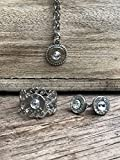 Bullet Jewelry Set 9mm, Earrings, Necklace and Ring