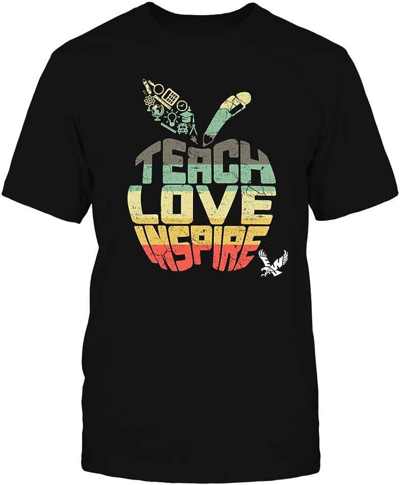 FanPrint Eastern Washington Eagles T-Shirt - Teach Love Inspire - Vintage Apple