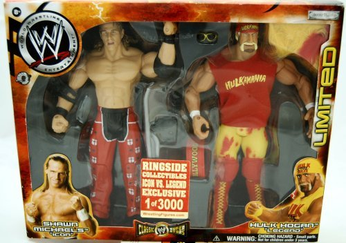 WWE Jakks Pacific Wrestling Classic Superstars Exclusive Action Figure 2Pack Hulk Hogan vs. Shawn Michaels Legend vs. Icon by WWE