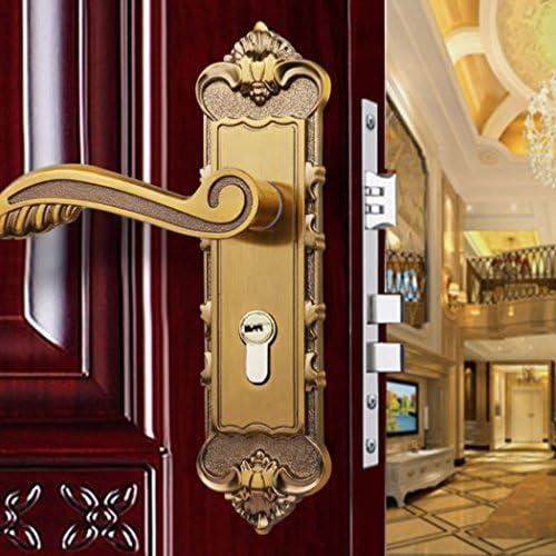Aleación de aluminio interior europea Manija Kit pestillo puerta ...