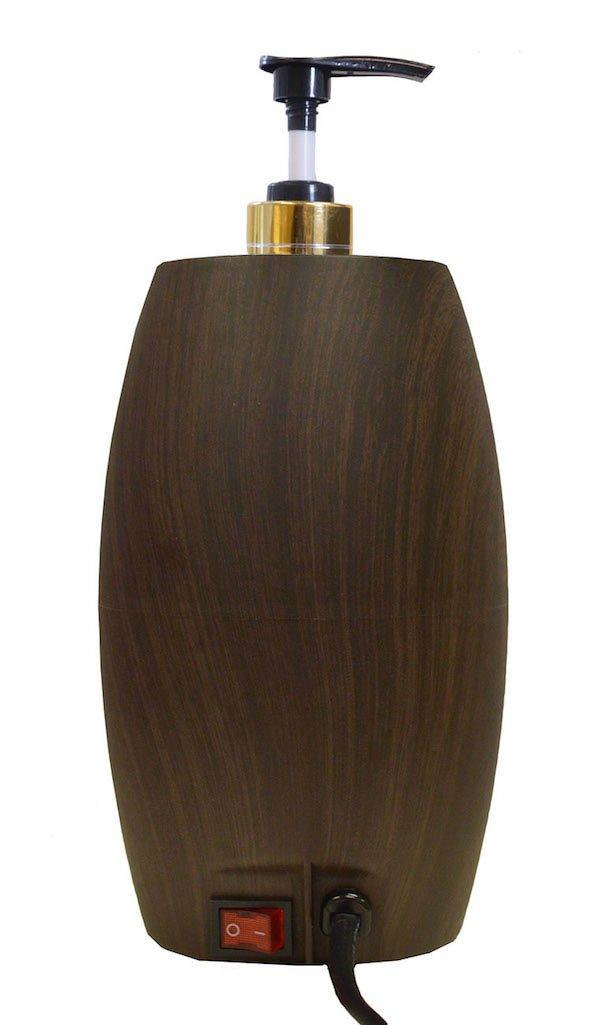 DevLon NorthWest Massage Oil Warmer Lotion Warmer with Bottle Compact Design (Dark Wood)