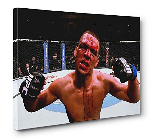 Nate Diaz UFC MMA Gallery Wrapped Canvas Wall Art Print, used for sale  Delivered anywhere in USA