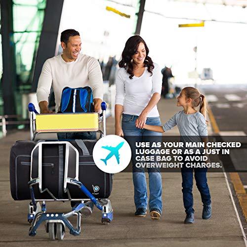 """51a7z36LEIL - Bago 60L Packable Duffle bag - 23"""" Foldable Travel Duffel bag (Black)"""