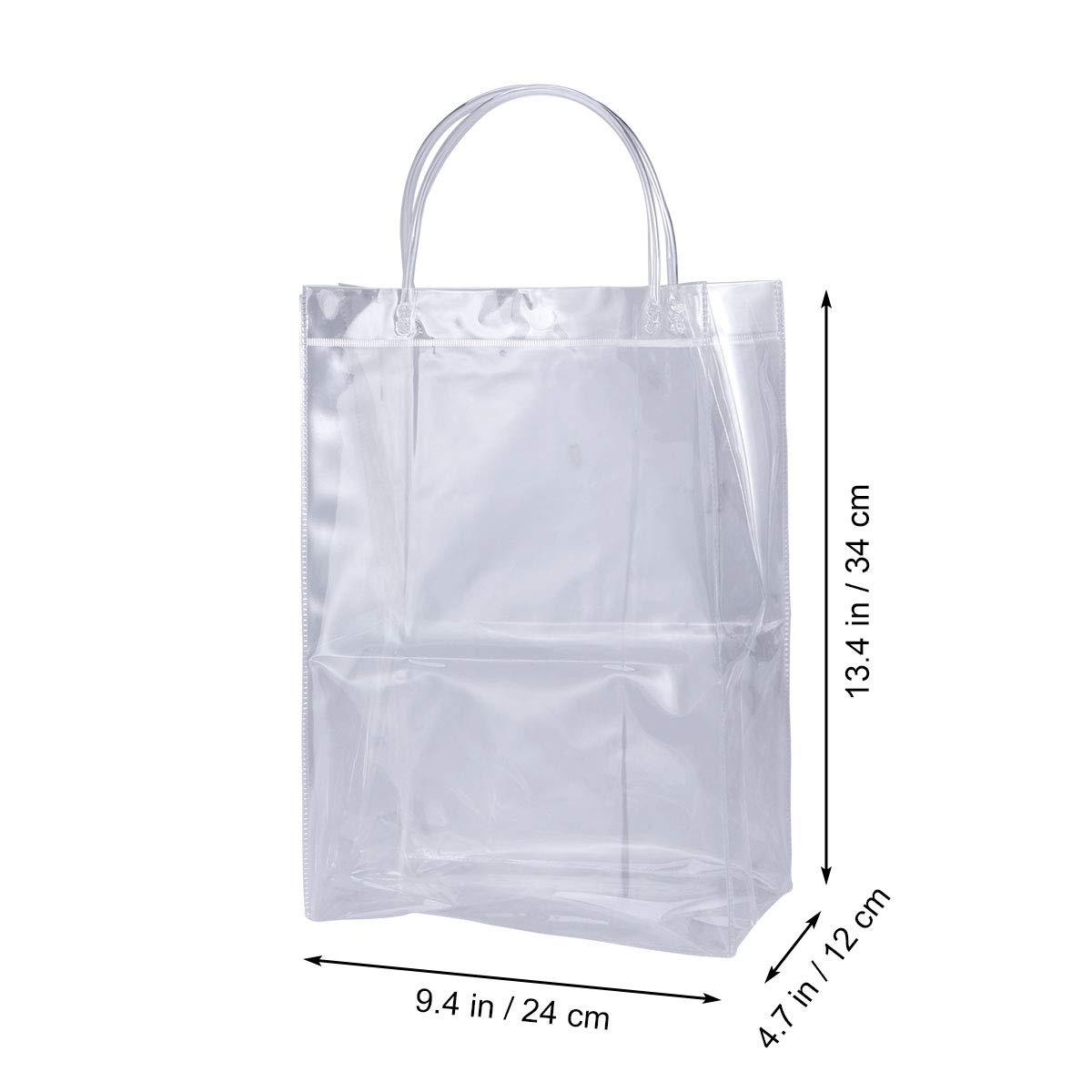 Transparent Plastic PVC Ice Wine Bag Portable Tote Bag Gift Bag Birthday Party Decoration Wedding Favor Vertical Style